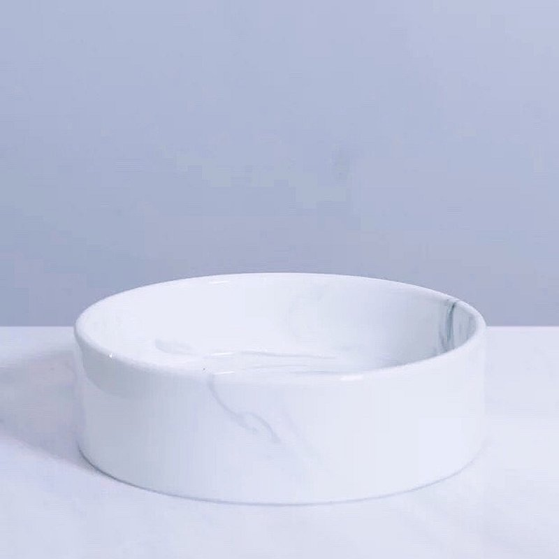 Stylish Marble Feeding Bowl (small)